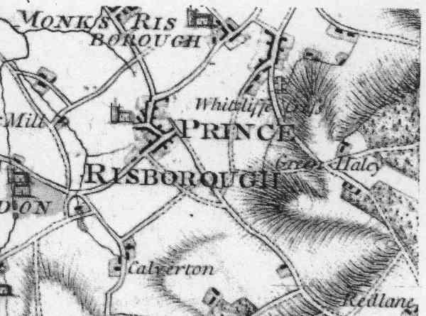 Map of Whitecliffe 1777